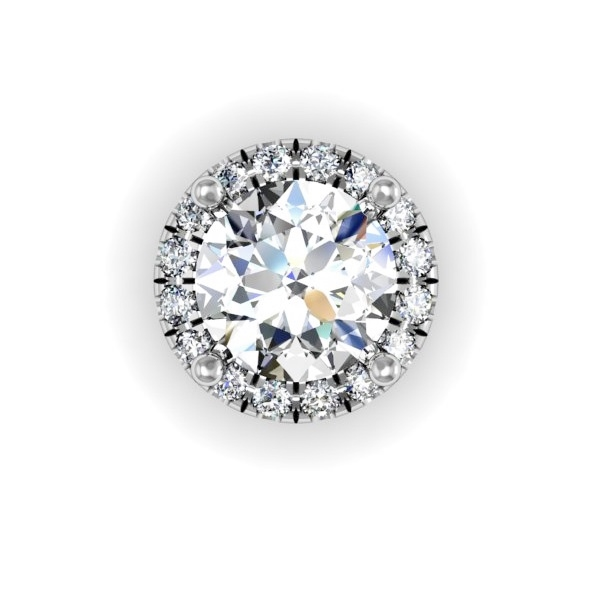 Diamond Halo Necklace 1/3ctw.